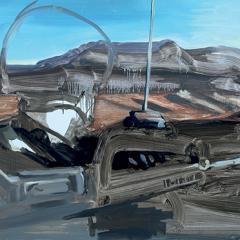 De la série : peinture d'actualité, 2010, huile sur carton, 70 x 50 cm