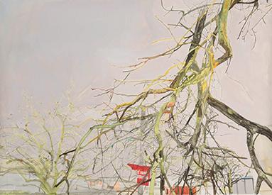 Sans titre, 2011 Aquarelle et encres sur papier, 205 x 112 cm