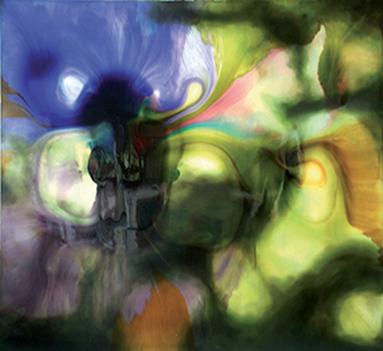 Le déversement, 2011 Techniques mixtes, 200 x 180 cm