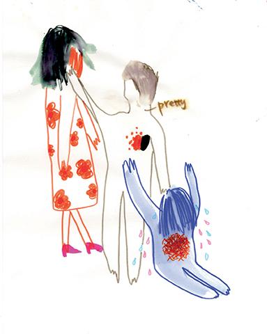 Begger, 2012 Feutre sur papier, format A3