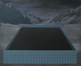 Paysage métaphysique, Juste milieu 1, 2011 Huile sur toile, 220 x 180 cm