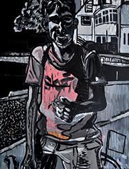 Sans titre, 2011 Acrylique, 230 x 200 cm
