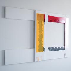 Fenêtre, juin 2011 Ensemble de quatre peintures glycériques sur toiles, 150 x 29 cm, 100 x 24 cm, 150 x 16 cm, 100 x 19 cm