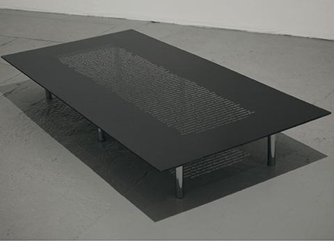 A VENIR, 2010, 20 x 80 x 160 cm
