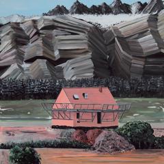 Sans titre, 2011 Acrylique sur toile, 230 x 150 cm