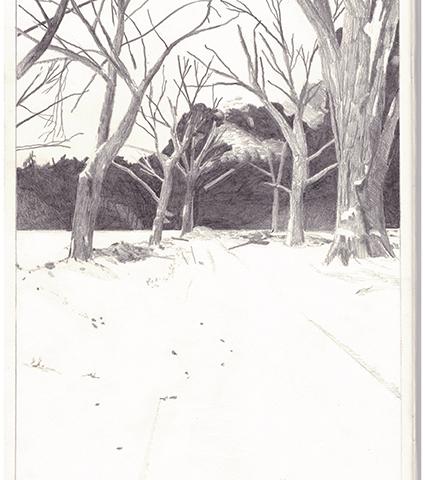 Sans titre, 2013 Crayon sur papier, format A4