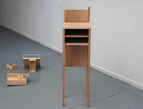 L'appui,107 x 29 x 35 cm, bois