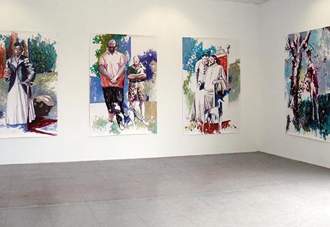 Sans titres, 2009, huiles sur papier, 220 x 150 cm