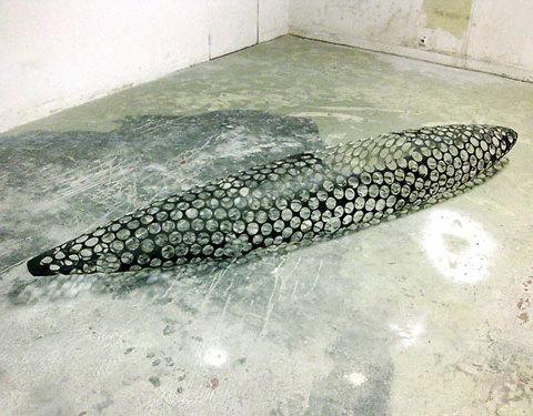 VY canis majoris, 2009, Polyester, fibres de verre, 45 x 60 x 240 cm