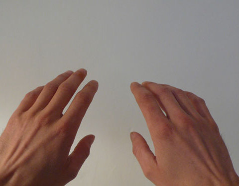 C'est pas des mains de sculpteur, ça, 2010 Impression jet d'encre, 46 x 37 cm