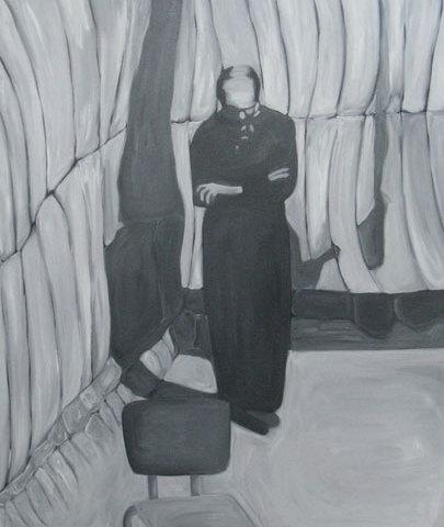 Eichmann à Jérusalem - 2011 Acrylique et huile sur toile — 150 × 120 cm Courtesy Galerie Marie Cini