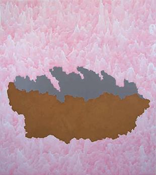 Ascension décue, glycérophtalique et pigment sur toile, 200 x 222 cm, 2007