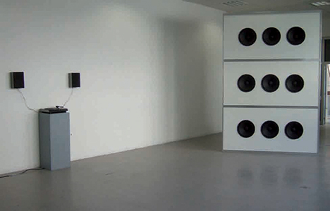 Piece « B », Frequence 10Hz, 9 x 400 watts rms, 220 x 330 x 110 cm, 2007
