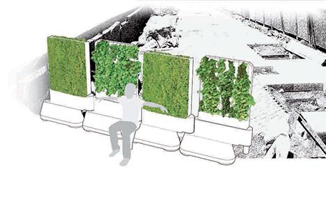 Chantier vert, photomontage, 2007