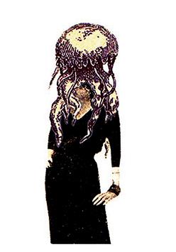 Femme méduse n°1 / 2007 / collage sur papier / 29,7 x 21 cm