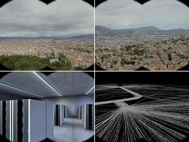 Jumelles interactives / 2007 / dispositif interactif combinant jumelles de points de vues et contenus numériques (simulation vidéo de 3 min 4 s)