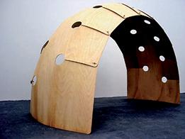 Corolla doma / 2008 / dôme en contreplaqué (ep. 3 mm) / diamètre 380 cm, hauteur 200 cm / structure entièrement démontable composée de modules en bois assemblés avec des écrous