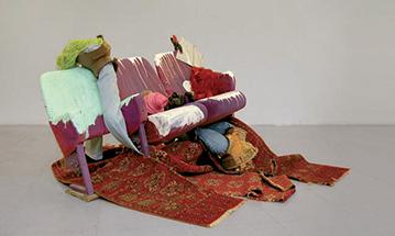Kinoniko / 2008 / techniques mixtes / 130 x 250 x 40 cm - au sol : 3m2