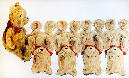 Le fantasme - 2008 huile sur toile - 250x150 cm