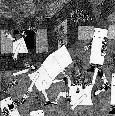 De la série Petits formats, 2011 Encre sur papier, 30 x 30 cm