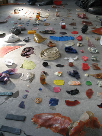 La collection depuis 2006, Matériaux divers, dimensions variables Vue d'atelier