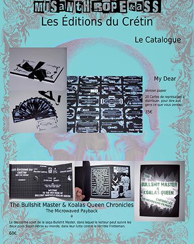 Les Éditions du Crétin, catalogue