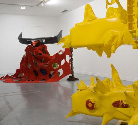 Vue de l'exposition au Frac Basse-Normandie, Caen, 2009. Photographie Marc Domage, Courtesy Galerie Alain Gutharc