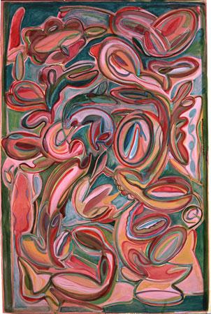 Sans titre, 2006 - série Bouturage Huile sur toile, 195 x 130 cm