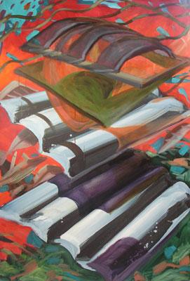 rinascimento - huile sur toile - 200 x 150 cm - 2012