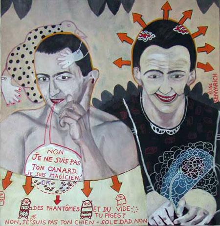 Soledad, 2001-2006 Techniques mixtes sur toile 90 x90 Photographie Laure Chaminas