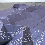 Paysages (détail), 2011 Tyvek, 125 x 400 cm